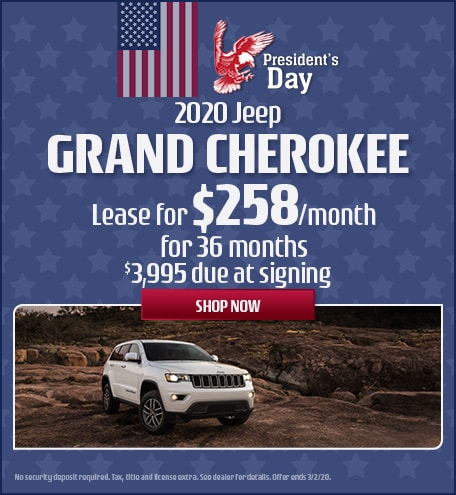 2020 Jeep Grand Cherokee - February Offer