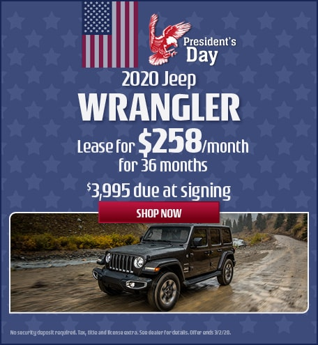 2020 Jeep Wrangler - February Offer