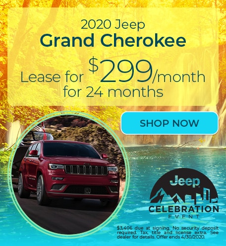 2020 Jeep Grand Cherokee - April Offer