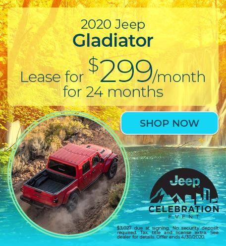 2020 Jeep Gladiator - April Offer