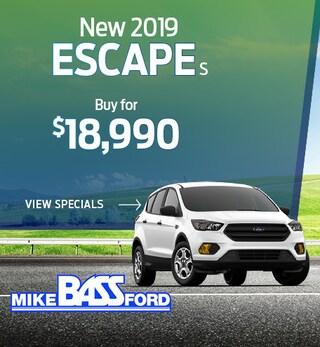 New 2019 Escape S