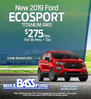 New 2019 Ford EcoSport Titanium AWD