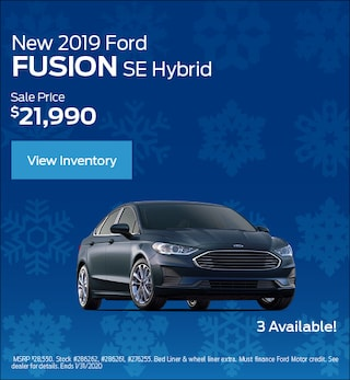 New 2019 Ford Fusion SE Hybrid