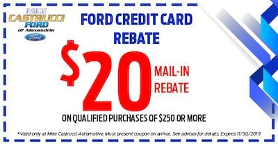 Ford Credit Card Rebate