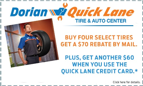 Buy 4 Select Tires Get $70 +$60