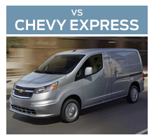 Click to compare the 2018 Ford Transit Connect to the 2017 Chevrolet City Express