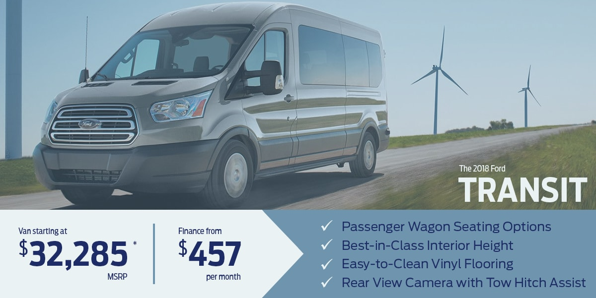 Learn more about the all-new 2018 Ford Transit Van/Wagon