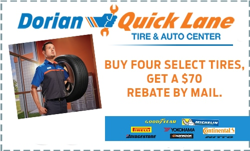 Buy 4 Select Tires Get $70