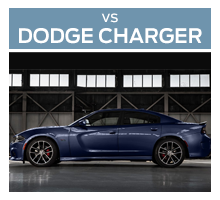 Click to compare the 2018 Ford Mustang to the 2017 Dodge Charger