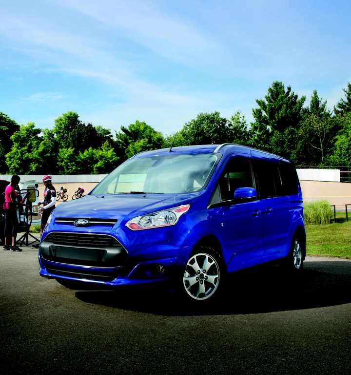 Blue Ford Transit Connect