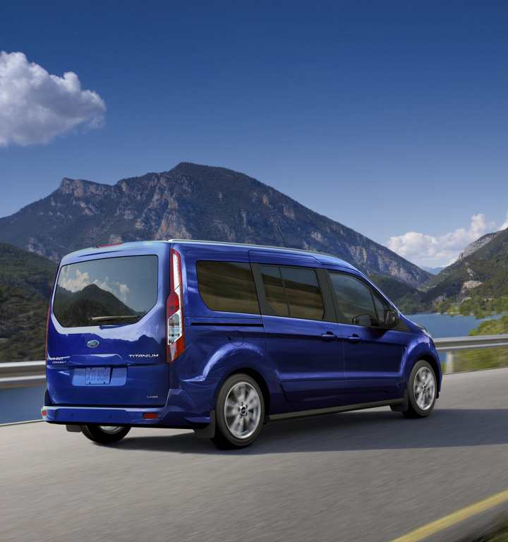 Ford Transit Connect Driving Away