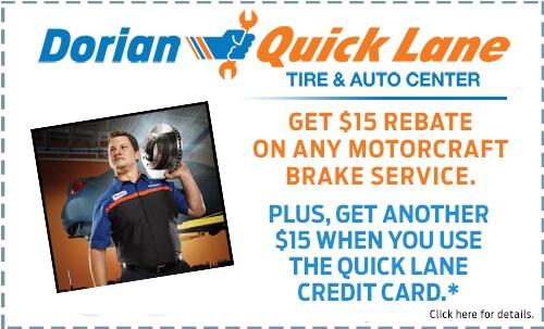 $15 off Motorcraft Brakes + $15
