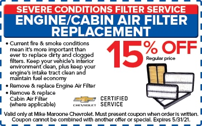 Cabin & Engine Air Filters (Chevrolet)