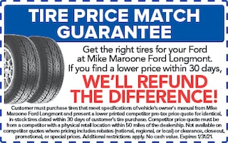 Tire Price Match Guarantee (Ford)