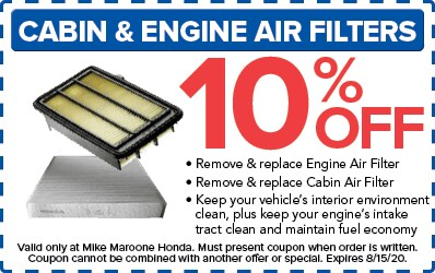 Cabin & Engine Air Filters (Honda)