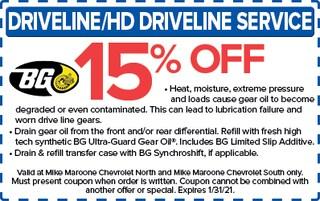 Driveline/HD Driveline Service (Chevrolet)
