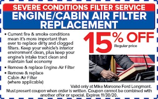 Cabin & Engine Air Filters (Ford)