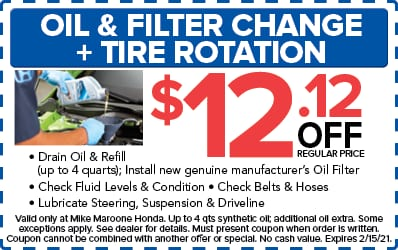 OIl & Filter Change + Tire Rotation (Honda)