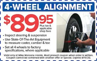 4-wheel alignment (Honda)