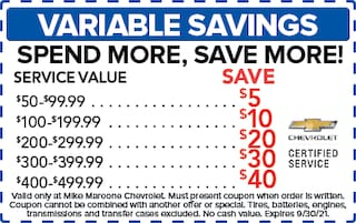 Variable Savings (Chevrolet)