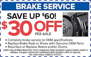 Brake Service (Ford)