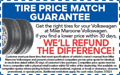 Tire price match Guarantee (VW)