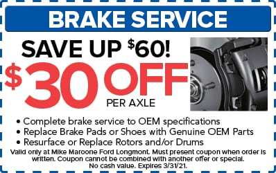Brake Service Special (Ford)