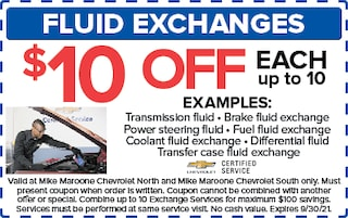 Fluid Exchanges (Chevrolet)