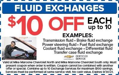 Fluid Exchanges (Chevrolet)
