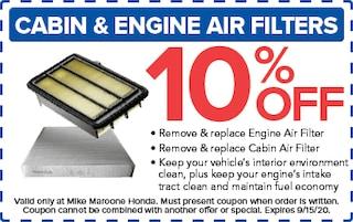 Cabin & Engine Air Filters (Honda)