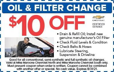 Oil & Filter Change (Chevrolet)