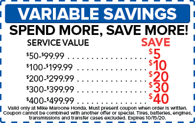 Variable Savings (Honda)