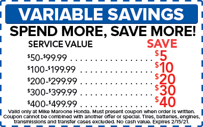 Variable Savings (Honda)
