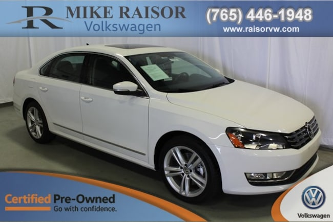 Certified Pre-Owned 2014 Volkswagen Passat 2.0L TDI SEL Premium Sedan For Sale Lafayette IN