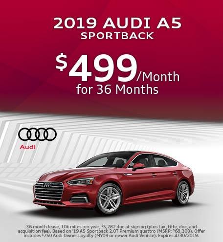 April 2019 Audi A5 Sportback Lease