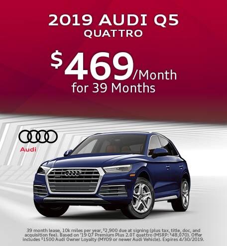 April 2019 Audi Q5 Lease