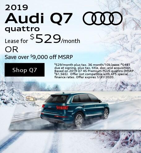 January 2019 Audi Q7 Quattro