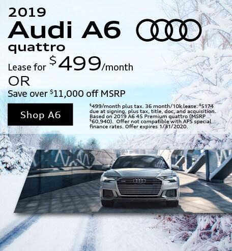 January 2019 Audi A6 Quattro