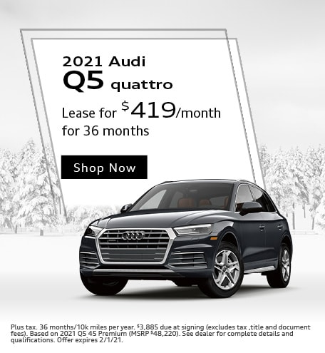 2021 Audi Q5 quattro- January Offer