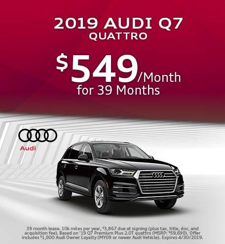 April 2019 Audi Q7 Lease