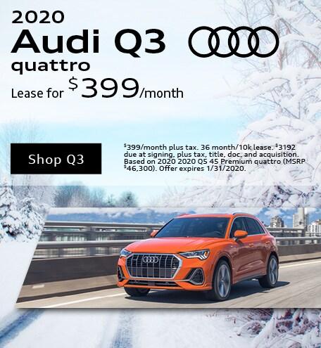 January 2020 Audi Q3 Quattro