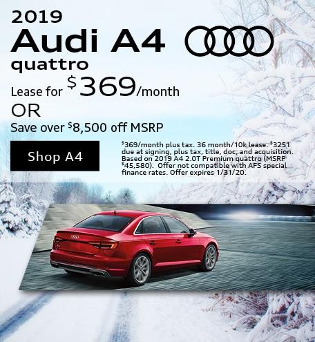 January 2019 Audi A4 Quattro