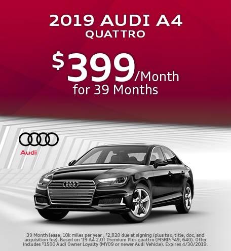 April 2019 Audi A4 Lease