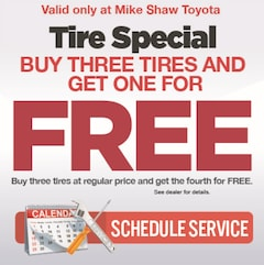 Buy Three Tires and Get One For FREE