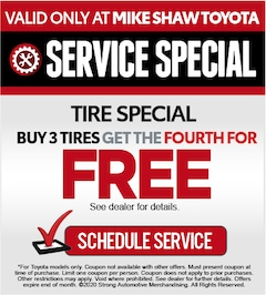 Buy 3 Tires, Get the 4th Tire for FREE