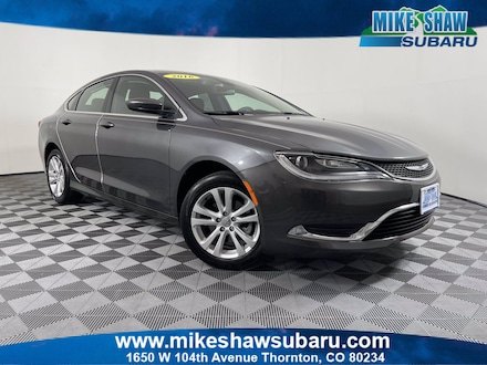 Featured Used 2016 Chrysler 200 Limited Sedan MH350233A for sale in Thornton, CO