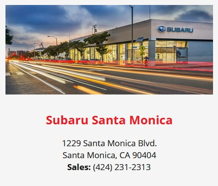Subaru Santa Monica - Find Out Why We Are Your Go-To Subaru Dealership