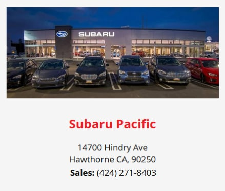 Subaru Pacific Offers Customers the True Golden State Peace of Mind!