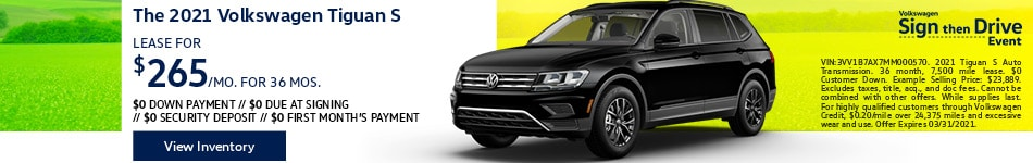 The 2021 Volkswagen Tiguan S