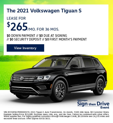 The 2021 Volkswagen Tiguan S